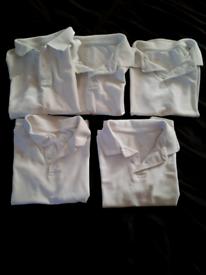 FREE Boy's age 5/6 + 6/7 school white shirts