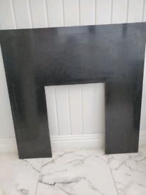 fireplace surround black granite