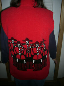 RCMP Warm Red Vest Canada