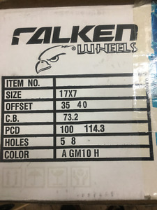 new falken rim in box