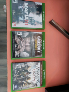 3 xbox one games. 15 each 3 for 30.