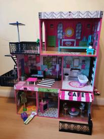 Kidkraft Brooklyn's Loft Wooden Dolls House with Furniture 3 storey