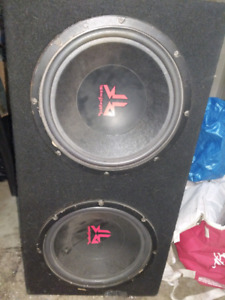 "12"" Rockford Fosgate subs and Amps"