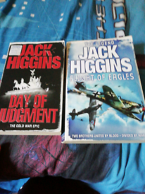 Jack higgins doubke book(day if judgment and flight of eagles for sale  Nelson, Lancashire