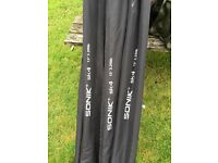 3 Sonik SK4 carp rods 50mm butt ring