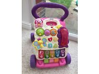 V tech first steps baby walker with phone