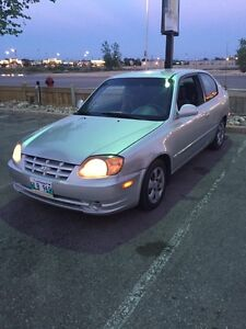 Hyundai accent for sale @ $1700. SAFTIFIED