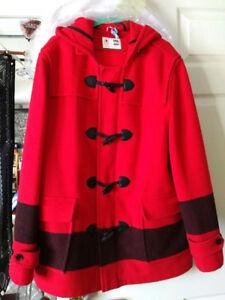 Hudson's Bay Canada Sochi 2014 Olympic's Wool Coat w/ hood