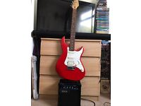 Red Crafter Cruiser Electric Guitar and Shine Amp
