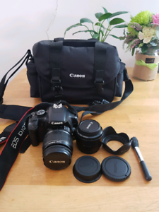 Canon EOS 450D DSLR camera and extras