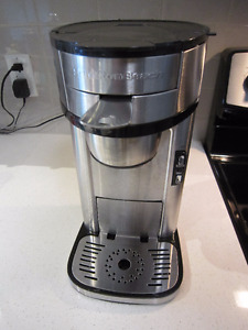 Hamilton Beach scoop single-serve coffeemaker stainless steel