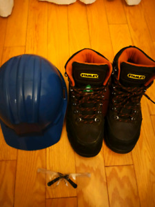 Safety boots,helmet & glasses