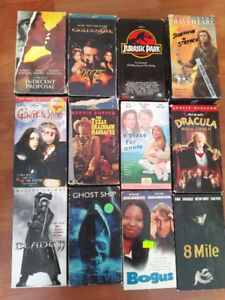 2 Box full vhs for sale assorted movies $2.00 a piece