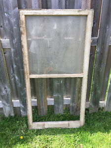 ANTIQUE 2 PANEL WINDOW FRAME