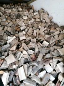 Logs, kindle and coal