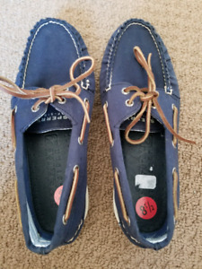 Men's Sperry boat shoes - navy canvas 8.5