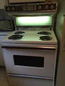 """Admiral 30"""" White Stove with Built in Range Hood"""