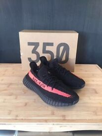 YEEZY BOOST 350 V2 BLACK AND RED