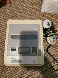 Snes with 3 games
