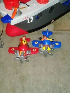 """""""Imaginext """" ship , planes and 2 people ! Windsor Region Ontario image 2"""