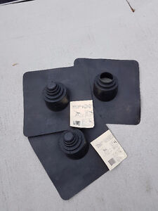 "5-in-1 Thermoplastic Roof Flashing with 4"" Flange"