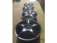 "4x 17"" tsw alloy wheels 4x108 ford Peugeot"
