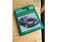 Haynes Manual for Mk3 Ford Mondeo