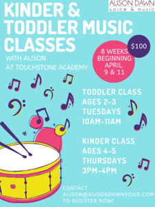 TODDLER & KINDERGARTEN MUSIC CLASSES