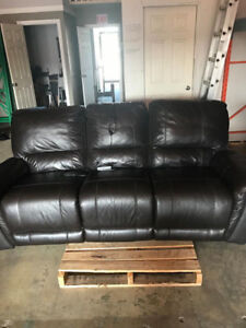 Leather Power Recliner couches 1