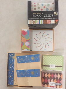 Blank cards and stationery