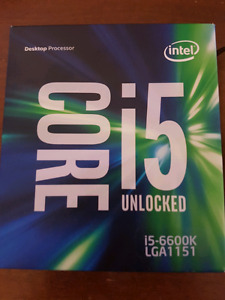 Intel Core i5-6600k for sale! Never been overclocked!