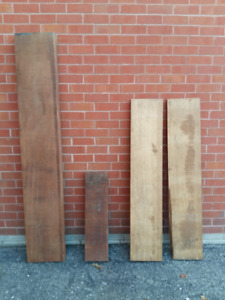 Hardwood lumber - rough sawn walnut, oak, mahogany