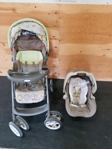 Graco stroller and car seat set with 2 base