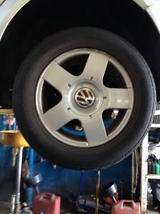 Set of VW JETTA or VW golf rims and tires 195-65-15