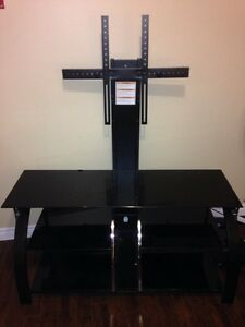 Black Glass Tv stand/mount