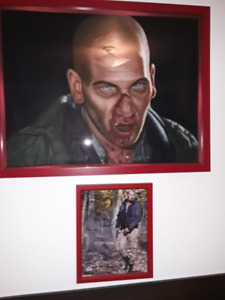 The Walking Dead oil Painting and Signed Photo