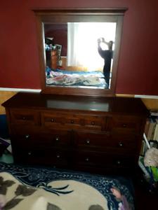 Dresser/mirror  and nightstand