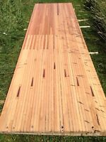 RECLAIMED WOOD FROM BOWLING ALLEY