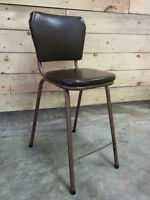 Vintage Leather Button Stool