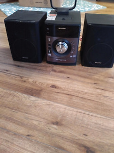 Sharp Mini Audio System with iPod Dock Station/Remote