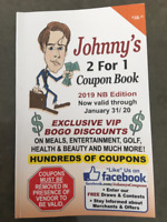 Johnny's Coupons 2 for 1 Booklets