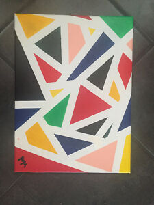 Multiple color abstract painting for sale