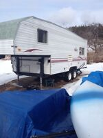 Trade a 2000 terry light 5th wheel and 12' dump trailer