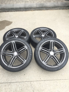 """*Like new* Audi rims and 19"""" Michelin Super Sport tires"""