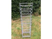 Catering metal tray clearing trolley rack