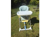 Baby high chair and musical swing