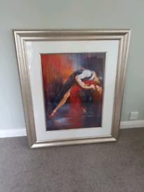 Large Picture Tango Nuevo II mounted in silver frame