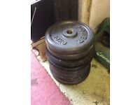 8x 10kg weight plates