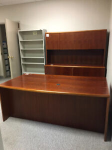 MOVING SALE! Executive Desk and matching credenza with hutch