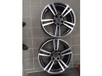 """Porsche 21"""" genuine alloy wheels x2"""